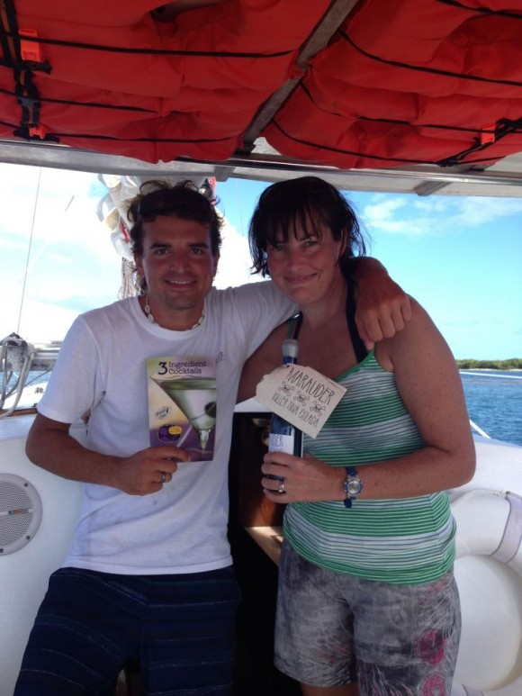 Exchanging drink recipes with Capt. Nate of Marauder Sailing Charter in Vieques
