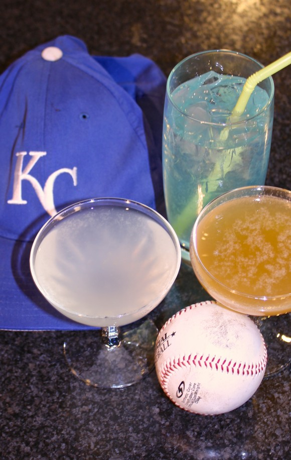 From left, clockwise, Golden Glove, KC Royal Ice Water, Royal Passion